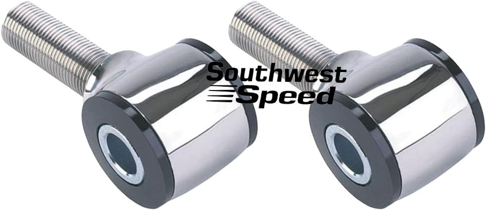 NYLON INSERT /& 1//2 STEEL BOLT HOLE 2-NEW SOUTHWEST SPEED 5//8-18 LEFT-HAND THREAD POLISHED STAINLESS STEEL 4-BAR ROD ENDS WITH 7/° OFFSET THREADED STUD IS 7 DEGREES OFFSET FROM 1//2 SLEEVE,HEIM END