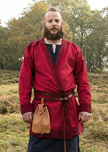 Battle-Merchant Klappenrock Bjorn, Wikinger-Mantel, rot, Gr. XL