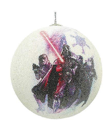 Star Wars Vader und Stormtroopers Weihnachtskugel, weiß, 8x 8x 8