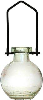 装飾用吊り下げ花瓶 小型のガラスボトル 寮の飾り カラフルなお香立て 壁掛け装飾 ロマンチックな装飾 クリア G268VF