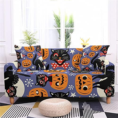 AIBABY Tema De Halloween Impresión Digital Lazy Todo Incluido Funda De Sofá A Prueba De Polvo Y Hermosa Funda De Sofá Lavable A Máquina Cuatro Estaciones Cojín De Sofá Universal