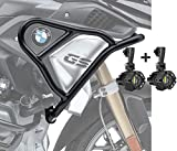 Set Defensas Arriba + Faro addicional XL para BMW R 1250 GS 19-20 Negro