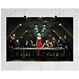 ZHHCVB Battlestar Galactica The Last Supper Television Show Poster and Prints Wall Art Canvas Painting Home Decor -20X30 Inch No Frame