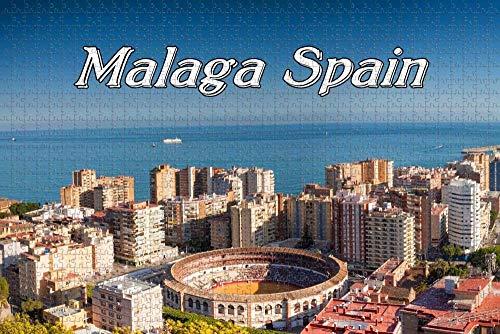 Rompecabezas para Adultos España Málaga Puzzle 1000 Piezas Recuerdo de Viaje