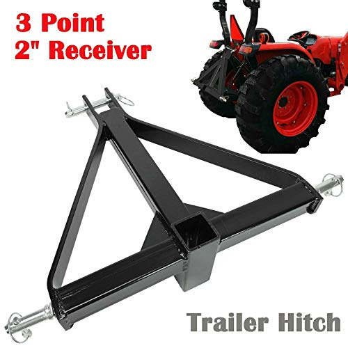 2' Receiver 3 Point Trailer Hitch Category 1 Tractor Tow Drawbar Adapter Compatible with BX Kubota John Deere LM25H WLM Tractor NorTrac Kioti Yanmar