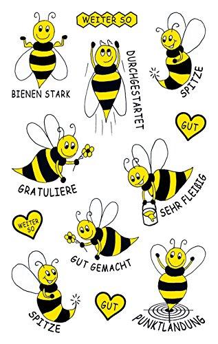 AVERY Zweckform 53132 Papier Sticker Biene 24 Aufkleber