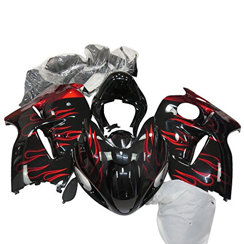 ZXMOTO Motorbike Fairing Kits for SUZUKI Hayabusa GSXR 1300 1997-2007 1998 1999 2000 2001 2002 2003 2004 2005 2006 Aftermarket Motorcycle Fairings Painted With Flame
