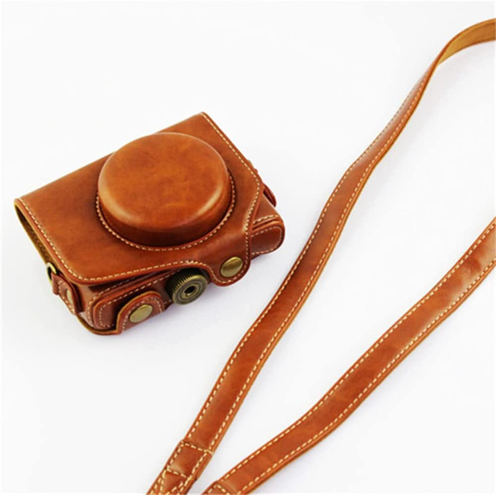 XJST PU Leather Camera Case Bag with Denver Mall Compact Long-awaited Cover Bags