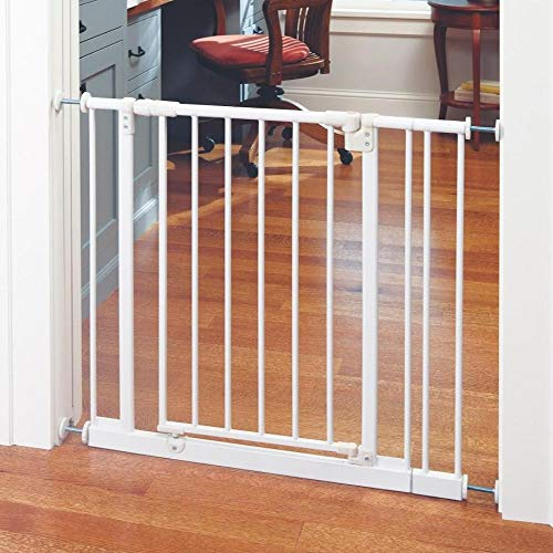 """Toddleroo by North States 38.5"""" Wide Easy Close Baby Gate: Sturdy Safety gate with one Hand Operation, Pressure Mount, Fits 28-38.5"""" Wide, (29"""