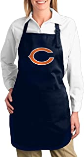 Awafergews Hotel Waitress Apron with Pocket Chicago Bears Twill Cotton Cooking Machine Washable Adults Bibs Cotton Apron Lovely Gifts