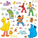 Lunarland SESAME STREET 45 BiG Wall Stickers ELMO BIG BIRD ABBY OSCAR Room Decor Decals