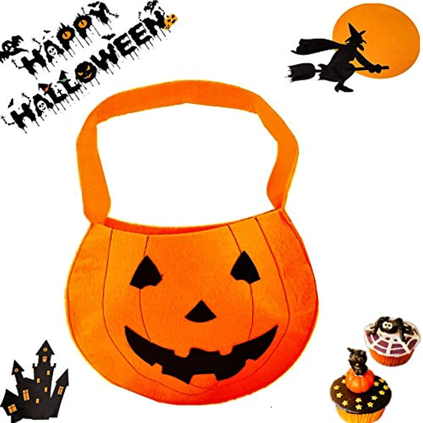 JeVenis Pumpkin Bags Pumpkin Goodie Bags Halloween Party Favor Bags Paper Gift Bags Goody Bags for Halloween Party Decorations Supplies