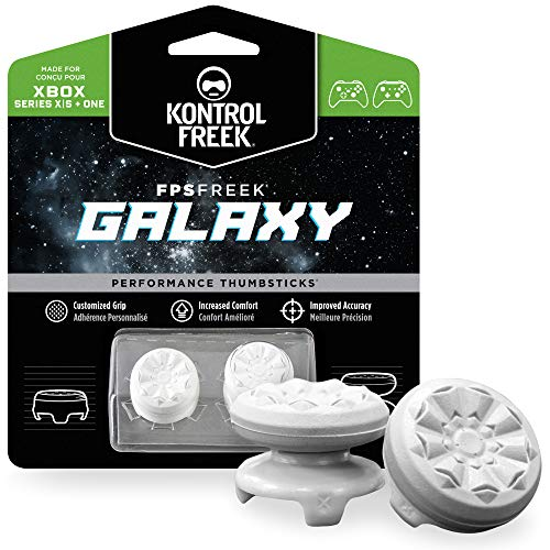 KontrolFreek FPS Freek Galaxy White per Xbox One e Xbox Series X Controller | Levette Performance | 1 alta, 1 media | Bianco