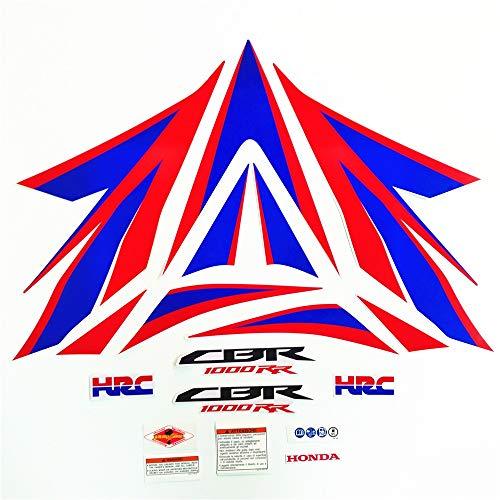 Motocicleta de alta calidad Cargador de calcomanía FIT CBR1000 para HONDA CBR1000RR 2012-2014 Protector completo Pegatina de carreras Decorativo (Color : Style 3)