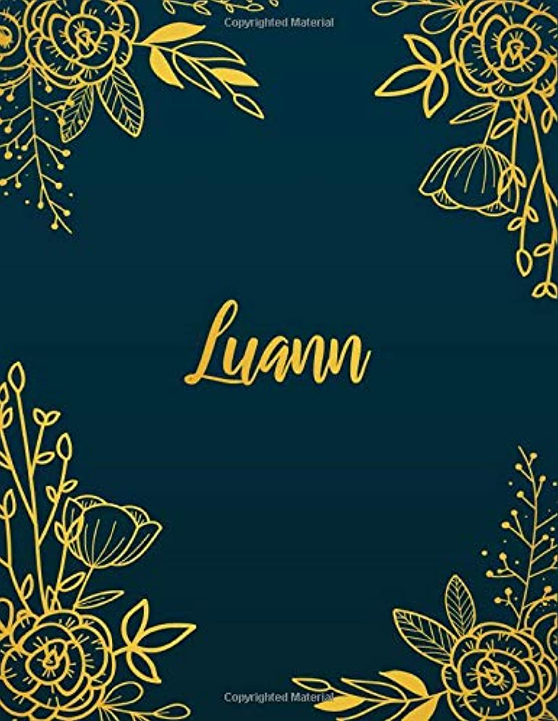 忠実な架空のメンターLuann: Personalized Name Notebook/Journal  Perfect Gift For Women & Girls 100 Pages A4
