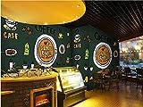 Denise Lamb Papel Pintado Moderno Personalidad Creativa patrón 3D Personalizado decoración Mural panadería/Pizza Restaurante/Restaurante/café, J