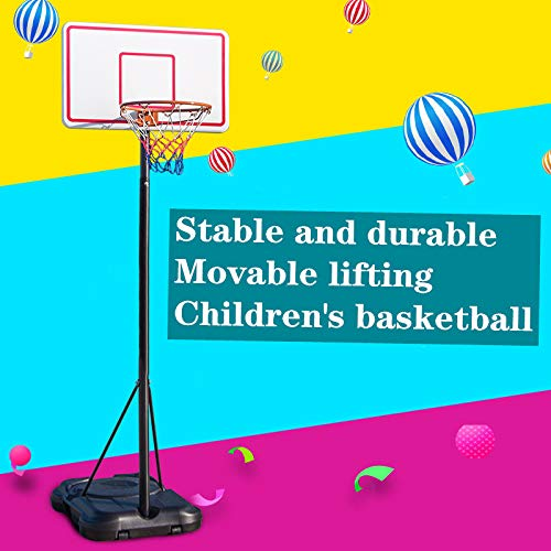 Best Deals! Portable Basketball Hoop, Children's Basketball Hoop, Home Indoor Shooting Hoop, Liftabl...