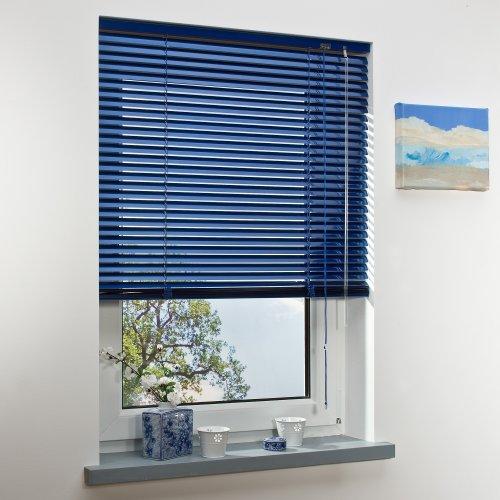 Liedeco   Aluminium-Jalousie   orientblau B80cm x H160cm