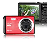 Vmotal GDC80X2 Mini Compact Digital Camera 12 MP HD 3.0 Inch TFT LCD Screen Camera for Kids / Children / Beginners / Elderly Gift (Red & Black)