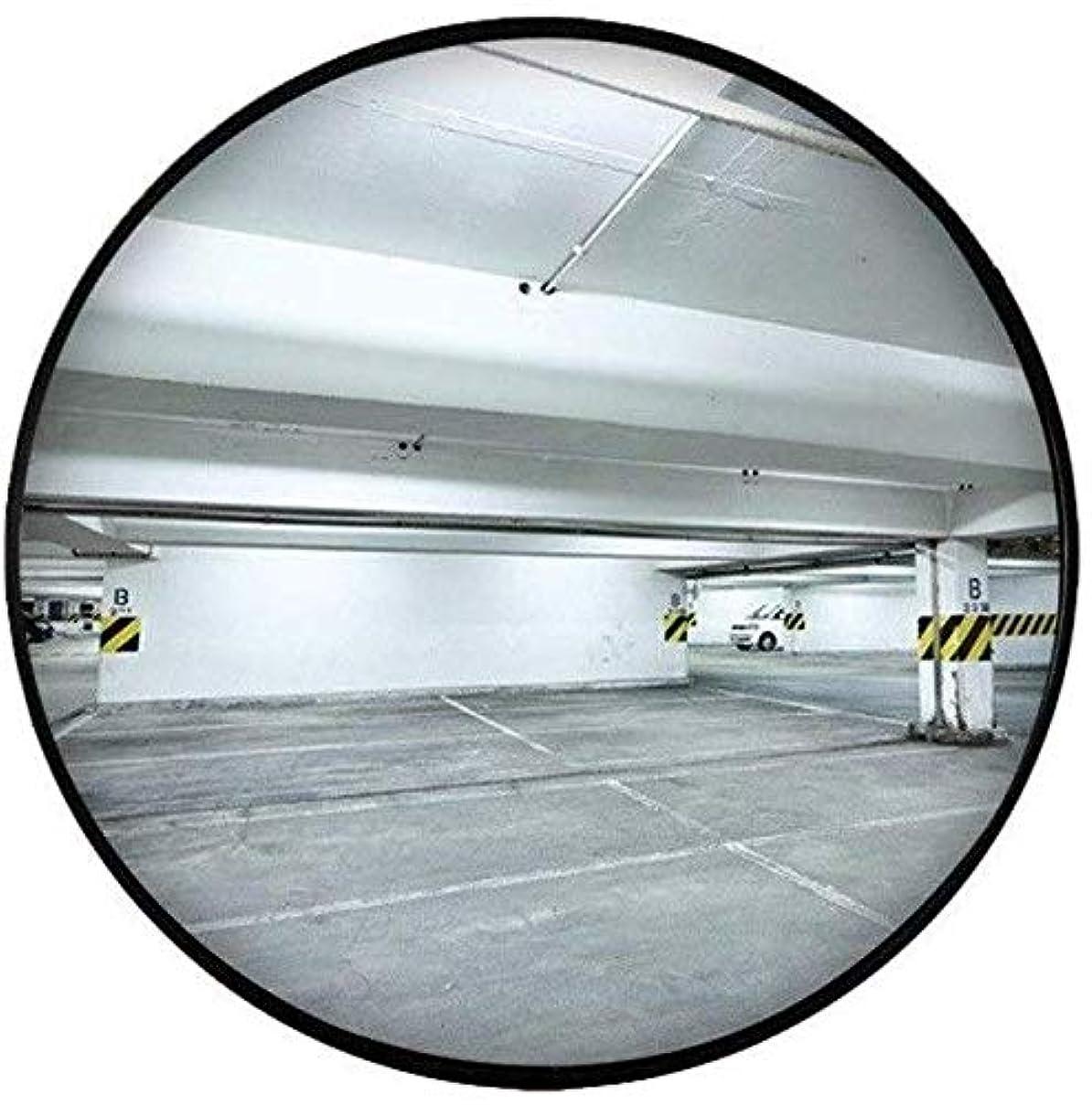 ご飯失われたマントル60CM屋内交通ミラー、黒球面ミラー防水飛散防止凸型安全ミラー駐車場ターニングミラー(サイズ:60CM)
