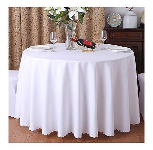 CIEEIN CIEHT Mantel Redondo para el hogar Falda de Mesa Mantel de Conferencia para Hotel Blanco 220cm de diámetro