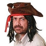 I LOVE FANCY DRESS LTD Adultos TRICORNIO Hat Pirate con Peluca Highwayman Town Crier Dick Turpin Disfraces Cualquier Fiesta