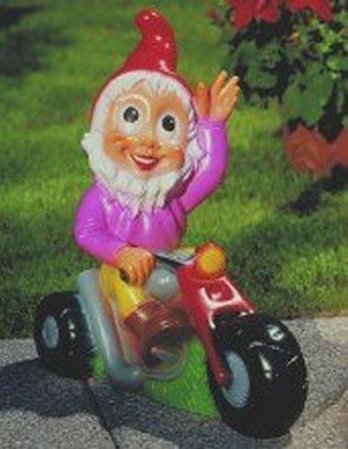 Zwerg auf Motorrad