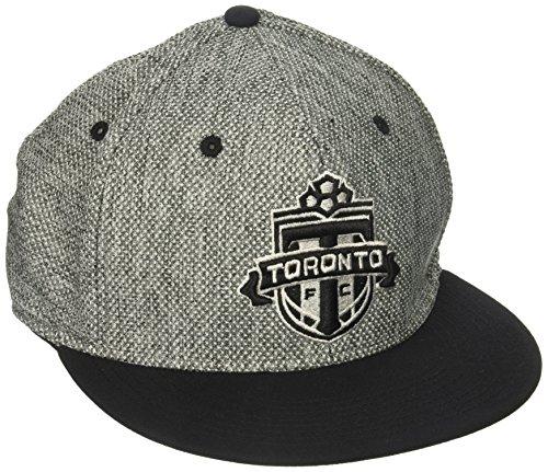 adidas MLS Toronto FC - Sombrero Flexible de Tela Gris Jaspeado para Hombre, Talla L/XL, Color Gris