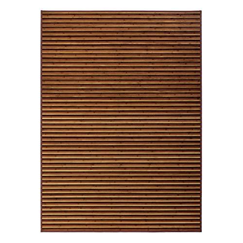 Alfombra de salón de bambú marrón de 180x250 cm - LOLAhome