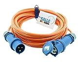 CEE Verlängerung KALLE Blue SIGNAL 2,5mm² Industrie Bau Boot Womo Camping Vollpur-Premium-Leitung...