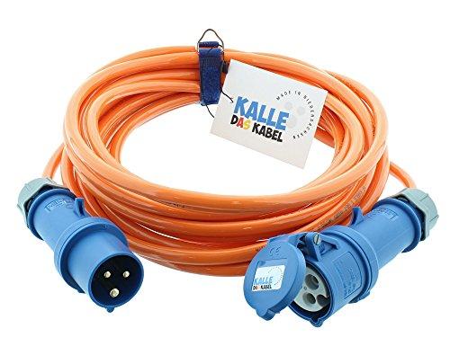 CEE Verlängerung KALLE Blue SIGNAL 2,5mm² Industrie Bau Boot Womo Camping Vollpur-Premium-Leitung mit 15 Jahren Garantie 10 Meter