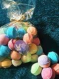 Mini Bombas de Baño Perfumado Mármoles Chill Pills Fizzes Regalo Envuelto Set Feliz Pascua Pegatinas Huevo Niños