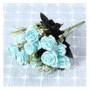 JIAHUAHUHH Single Bundle of European Artificial Flowers, Fake Flowers, Single Decorative Silk Flowers,Rosemary Powder,33cm