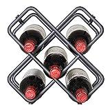 ZHBD Botellero casero 6 Botellas De Vino Bastidores De Vino Bastidores De Metal For La Barra Casero Cocina Encimera De Mesa De Bar Independiente para Vino Tinto y Champagne