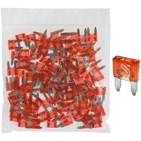 100 Flachstecksicherung Mini Sicherung 10a 32v Rot Auto