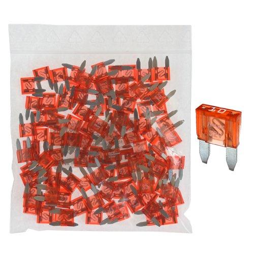 100 Flachstecksicherung Mini-Sicherung 10A / 32V / rot