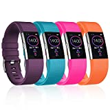 YOUKEX Slicone Bands Compatible with Fitbit Charge 2 Band, Classic & Special Edition Replacement Band for Fitbit Charge 2, Women Men