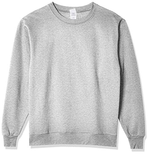 Hanes Men's EcoSmart Sweatshirt, Light Steel, Large