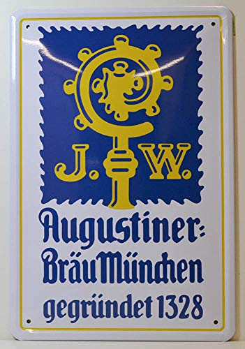 Unbekannt Augustiner Bräu München Bier Blechschild