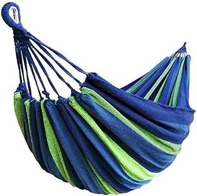 Hammock, Brazilian Double Hammock - 190 x 150 cm, Thinkcase Cotton Hammock Stripe 2 Person Hammock with Portable Carrying Bag for Patio, Garden, Backyard, Outdoor and Indoor