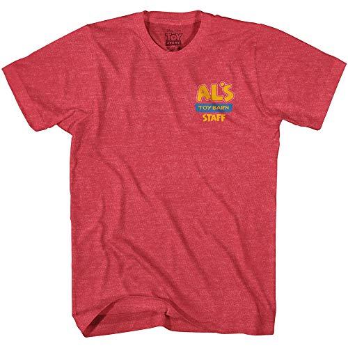 Disney Pixar Toy Story AL s Toy Barn Staff Adult T-Shirt(Heather Red X-Large)