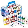 TBC The Best Crafts Acrylic Paint Set Kit, 10 Bottles(20 fl. Oz) Acrylic Paint for Kids with Paint Brushes & Palette, Beginner Paints Set, Ideal School Arts & Crafts Supplies, Rock Painting Set