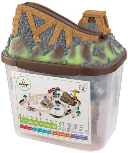 KidKraft- Bucket Top  Juego de tren con vía de madera para