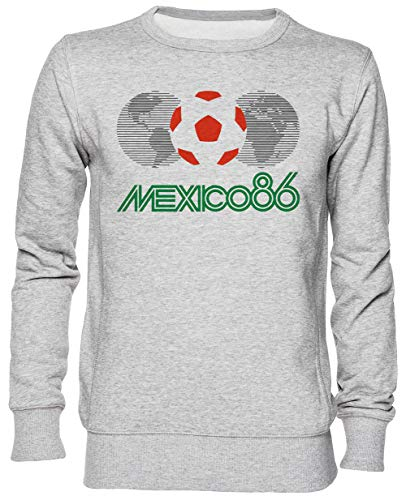 Capzy Mexico 86 Logo Gris Sweat-Shirt Jersey Unisexe Homme Femme Grey Unisex Jumper