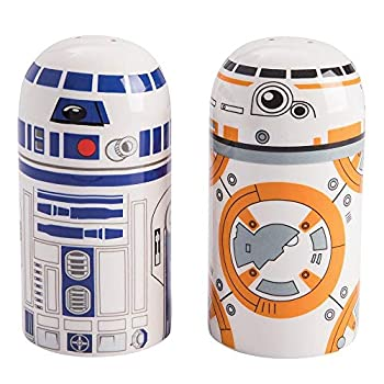 Vandor Star Wars BB-8 and R2D2 Sculpted Salt and Pepper Set
