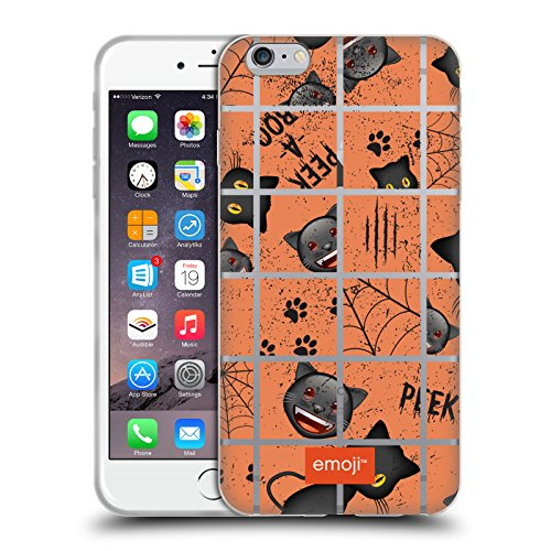 Head Case Designs Oficial Emoji Puzzle Patrones de Halloween Carcasa de Gel de Silicona Compatible con Apple iPhone 6 Plus/iPhone 6s Plus
