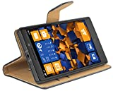 mumbi Tasche Bookstyle Hülle kompatibel mit Nokia Lumia 930 Hülle Handytasche Hülle Wallet, schwarz