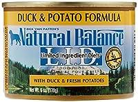 ナチュラルバランス ドッグフード ドッグ缶 ダック&ポテ 170g×24 (ケース販売)