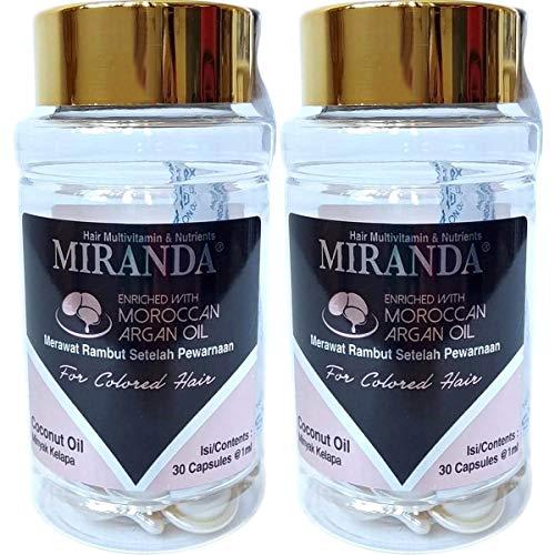 MIRANDA ミランダ Hair Multivitamin&Nutrients ヘアマルチビタミン ニュートリエンツ 洗い流さないヘアトリートメント 30粒入ボトル×2個セット Coconut oil ココナッツオイル