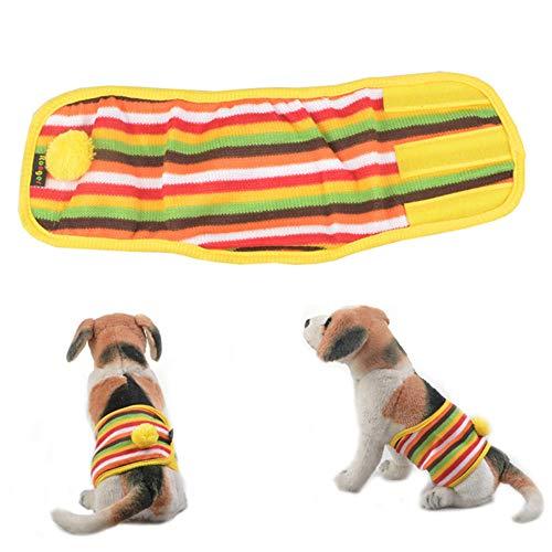KANKOO Hundewindeln Rüde Rüdenwindel Windeln für Rüden Hosen für Hunde in der Saison Rüde Windel Windeln für inkontinente Hunde Hundebauchbänder männlich S